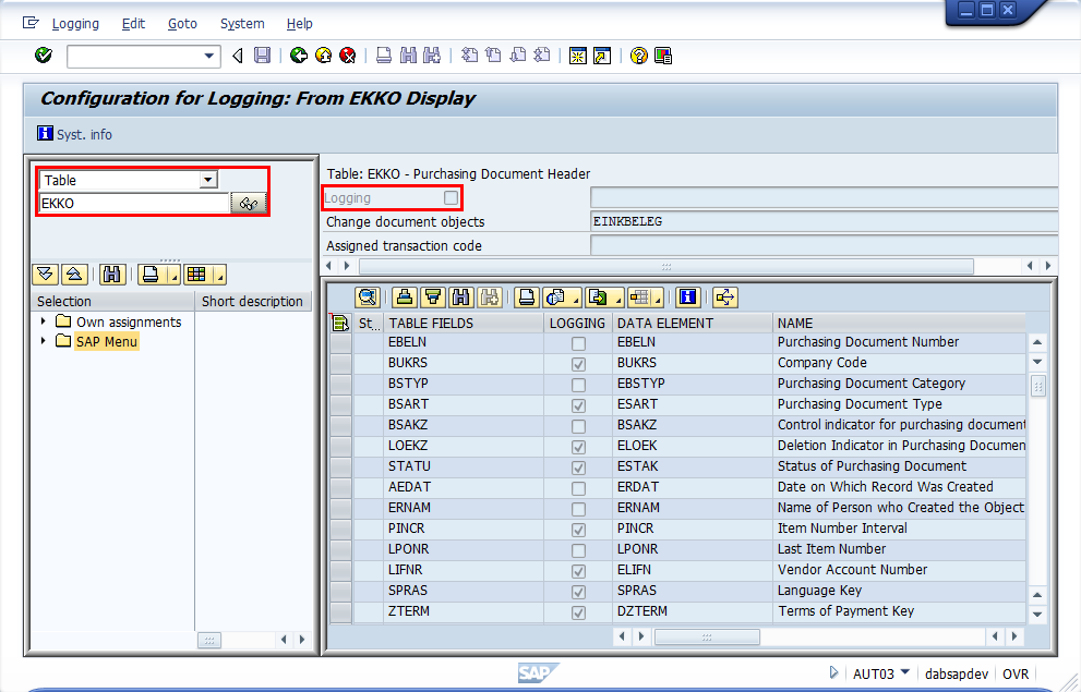 SAP® Change Tables – (Part 2) What tables and field changes