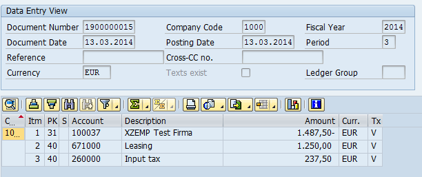 Alternative payee in document at SAP® vendor invoices | dab: Daten