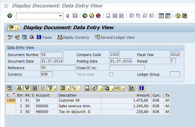 partial payments in sap174 dab daten analysen
