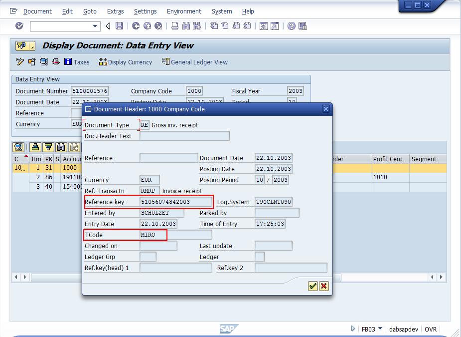 SAP Kreditorenbuchhaltung Dab Daten Analysen Beratung GmbH - Key invoice software