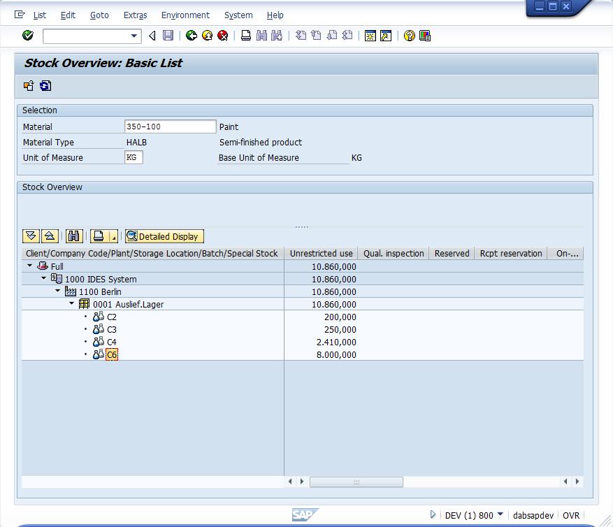 Batch analysis in SAP® MM | dab: Daten - Analysen & Beratung